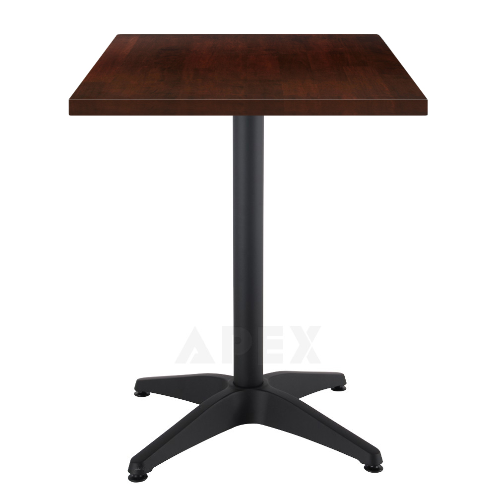 aida cafe restaurant table solid wood top black aluminium