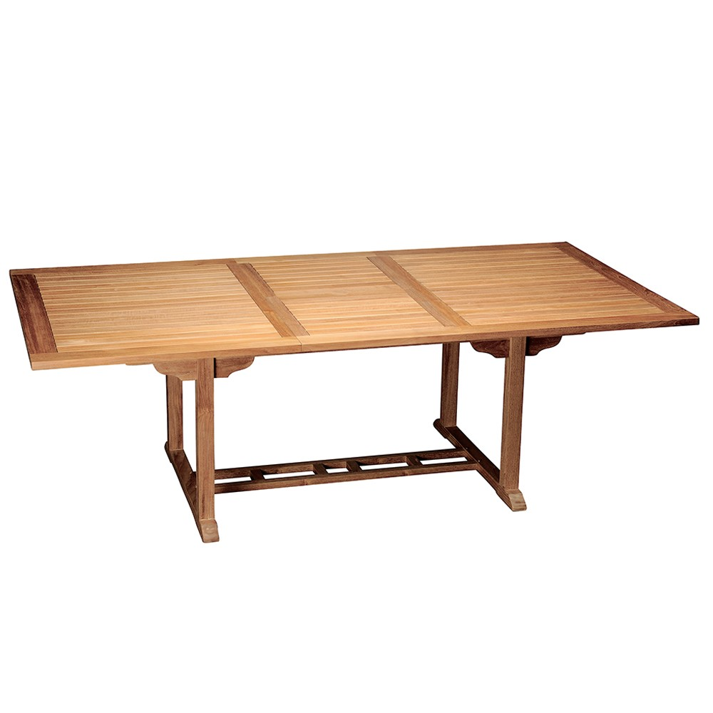Kingston Teak Outdoor Extendable Dining Table Barons
