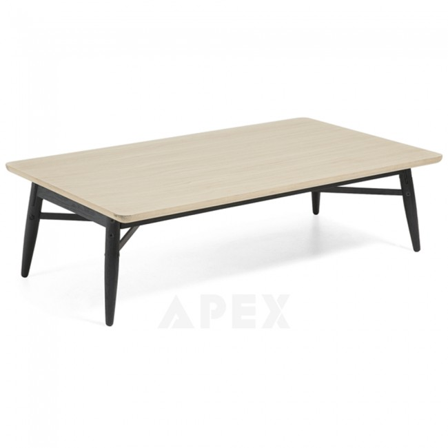Ava Coffee Table Top In White American Oak And Metal 1