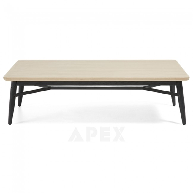 Ava Coffee Table Top In White American Oak And Metal 2