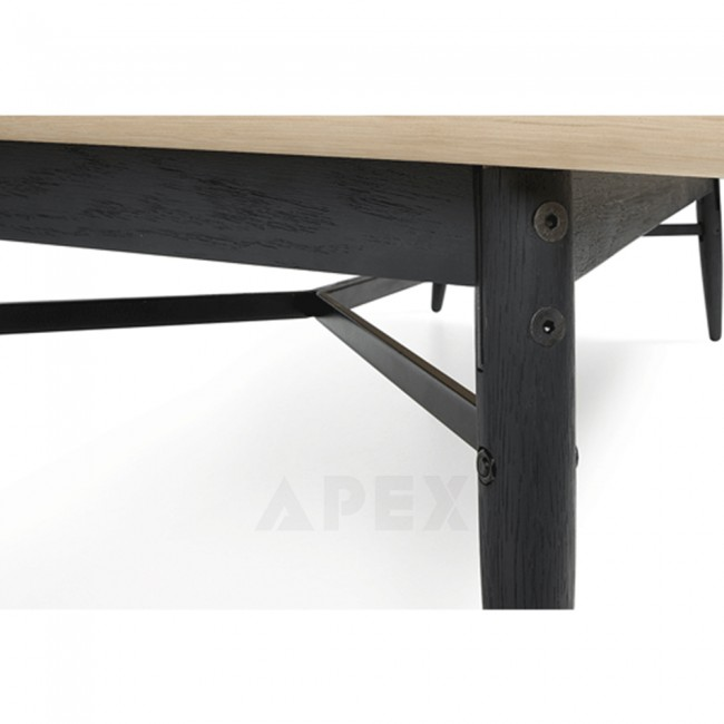 Ava Coffee Table Top In White American Oak And Metal 3