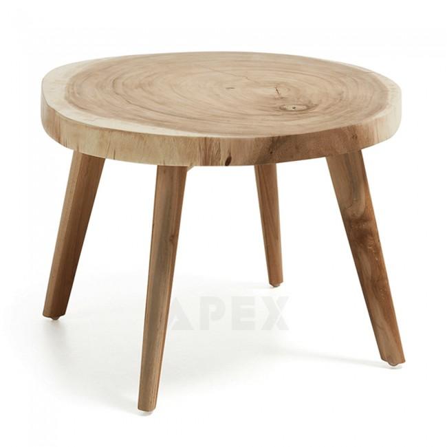 natural timber side table solid munggur wood stump trunk barons. Black Bedroom Furniture Sets. Home Design Ideas