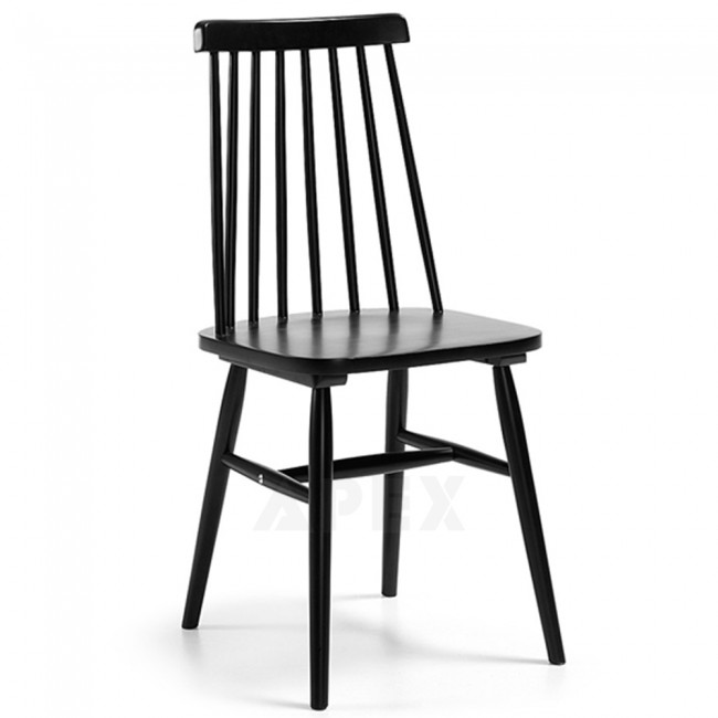 Superbe Solid Birch Wood Timber Dining Chair Black