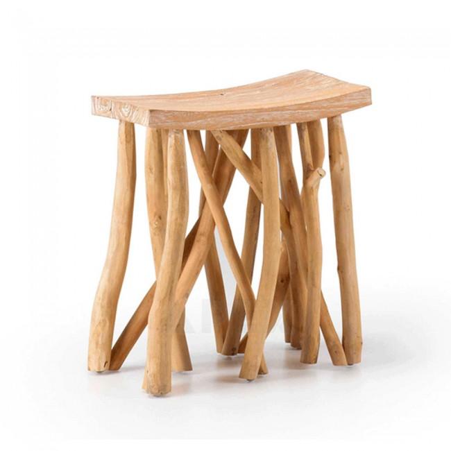 Teak Wood Stool or Side Table | Barons