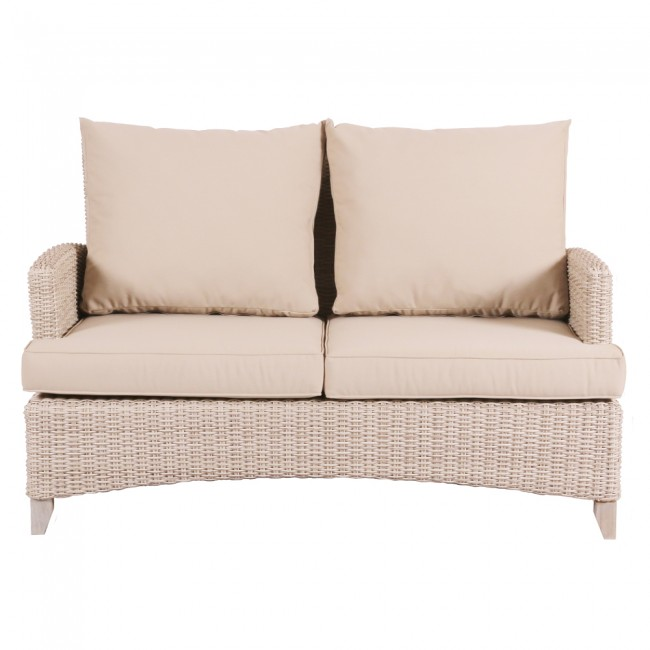 Venice Wicker Two Seater Outdoor Sofa