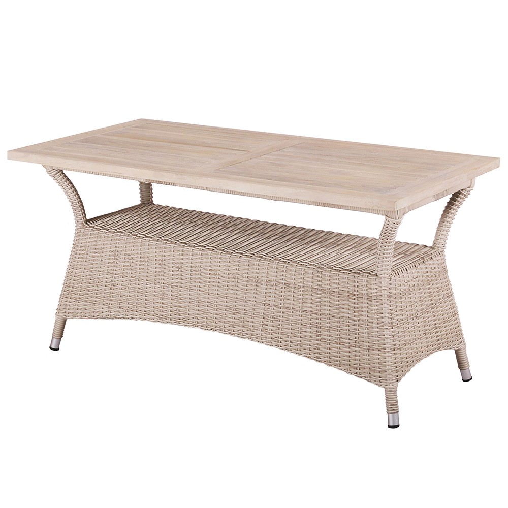 Venice wicker outdoor low dining table ii barons for Low dining table