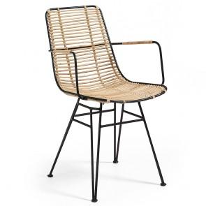 Ashanti Rattan and Metal Chair