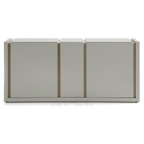 Kirstin Oak Veneer Buffet Matt Light Grey Finish