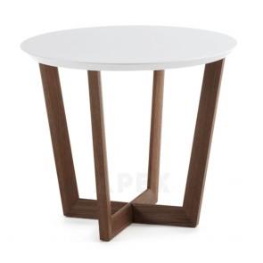 Cinita Walnut Wood Side Table
