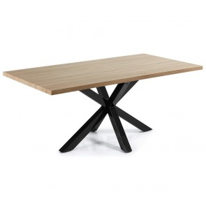Corinne Timber Table Black Legs