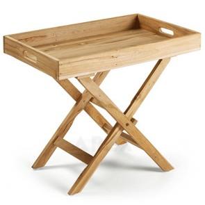 Folding Side Table In Teak Wood