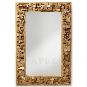 Mirror with Rectangle Teak Wood Frame