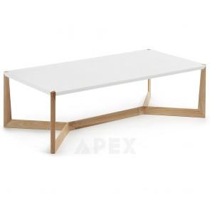 Rika Rectangle Coffee Table Ash Wood Legs