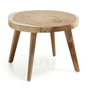 Natural Timber Side Table Solid Munggur Wood Stump Trunk