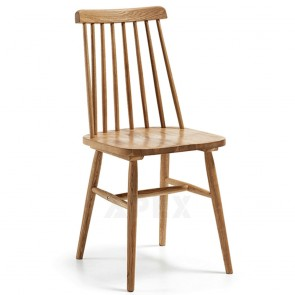 Solid Oak Wooden Dining Chair Natural Color