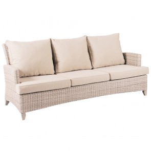 Venice Wicker Three Seater Outdoor Sofa