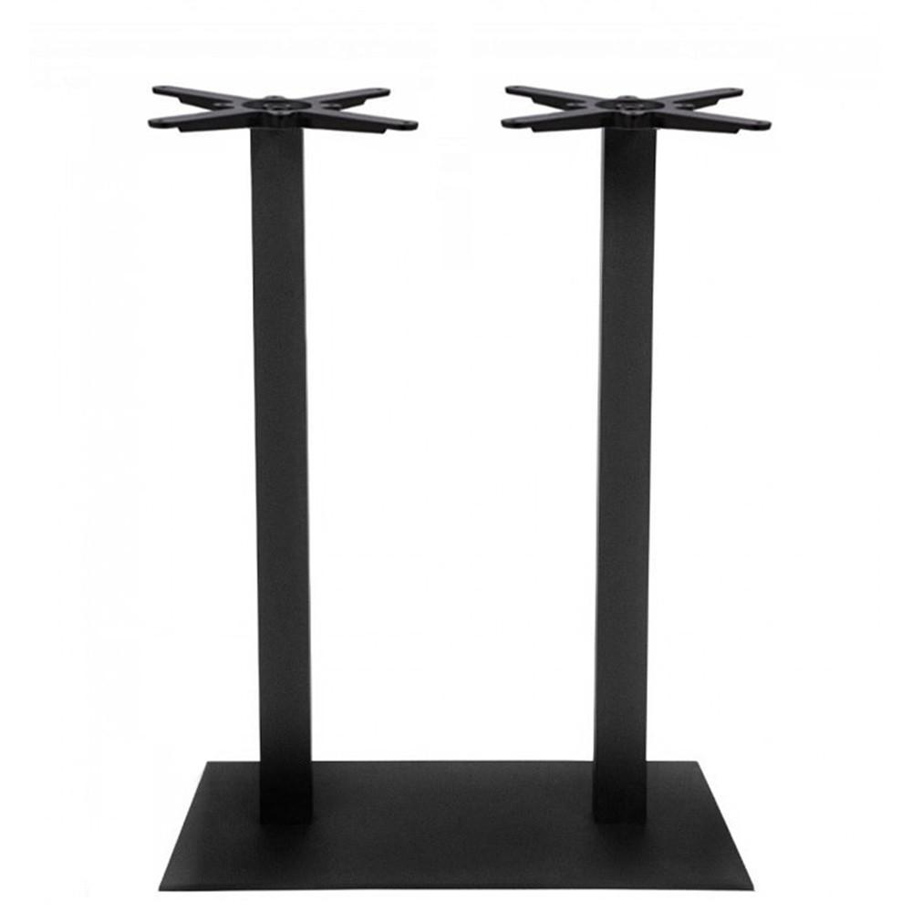 Annick Twin Bar Table Base Black Steel