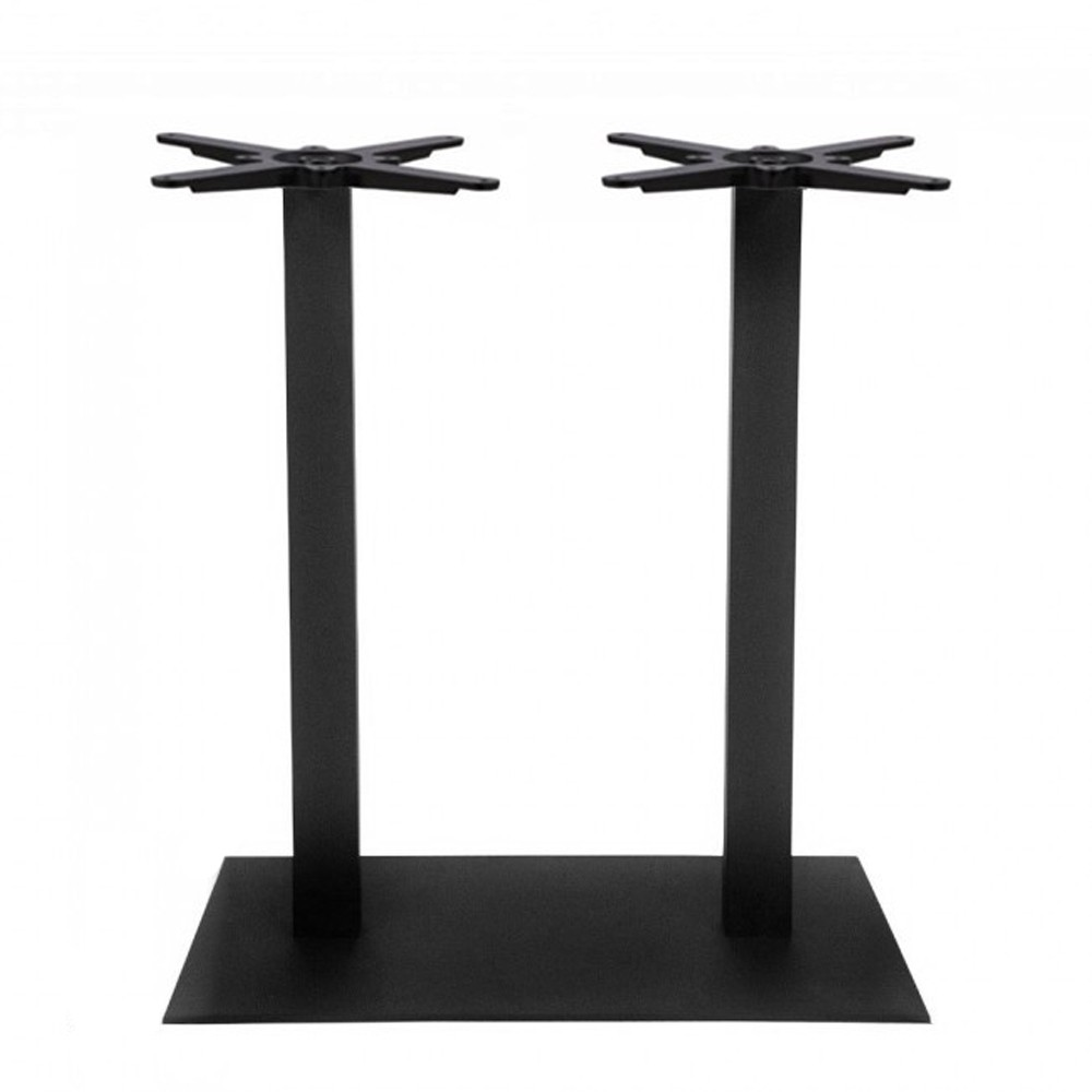 Annick Twin Table Base Black Steel