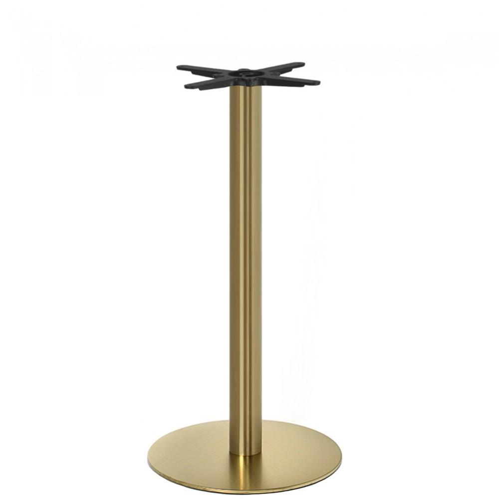 Brass Bar Table Base Round