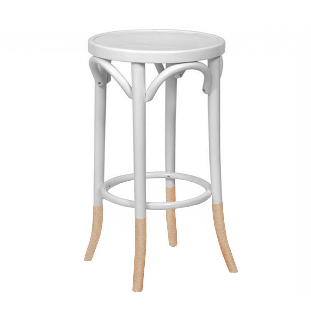 Genuine Bentwood Kitchen Counter Stool with Natural Socks