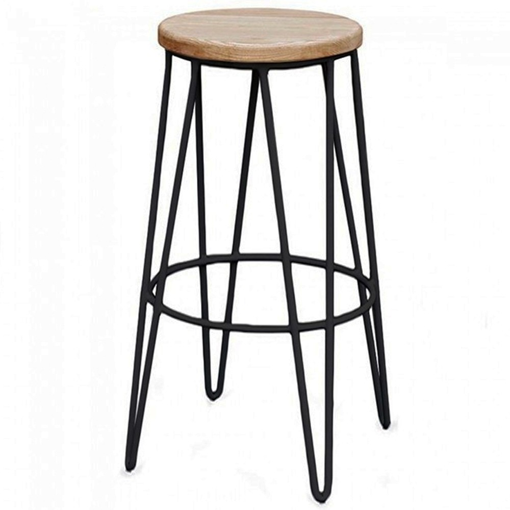 Hairpin Industrial Bar Stool