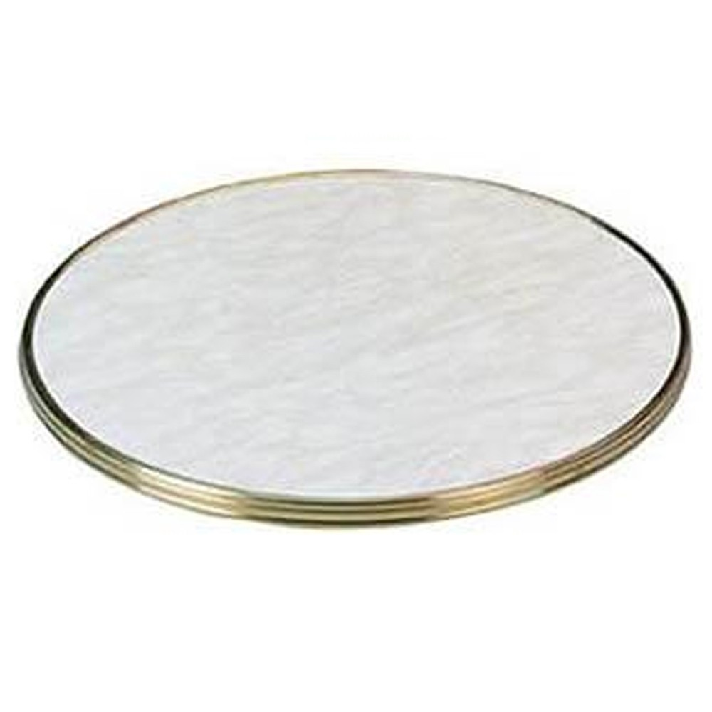Marble Style Table Top with Brass Edge