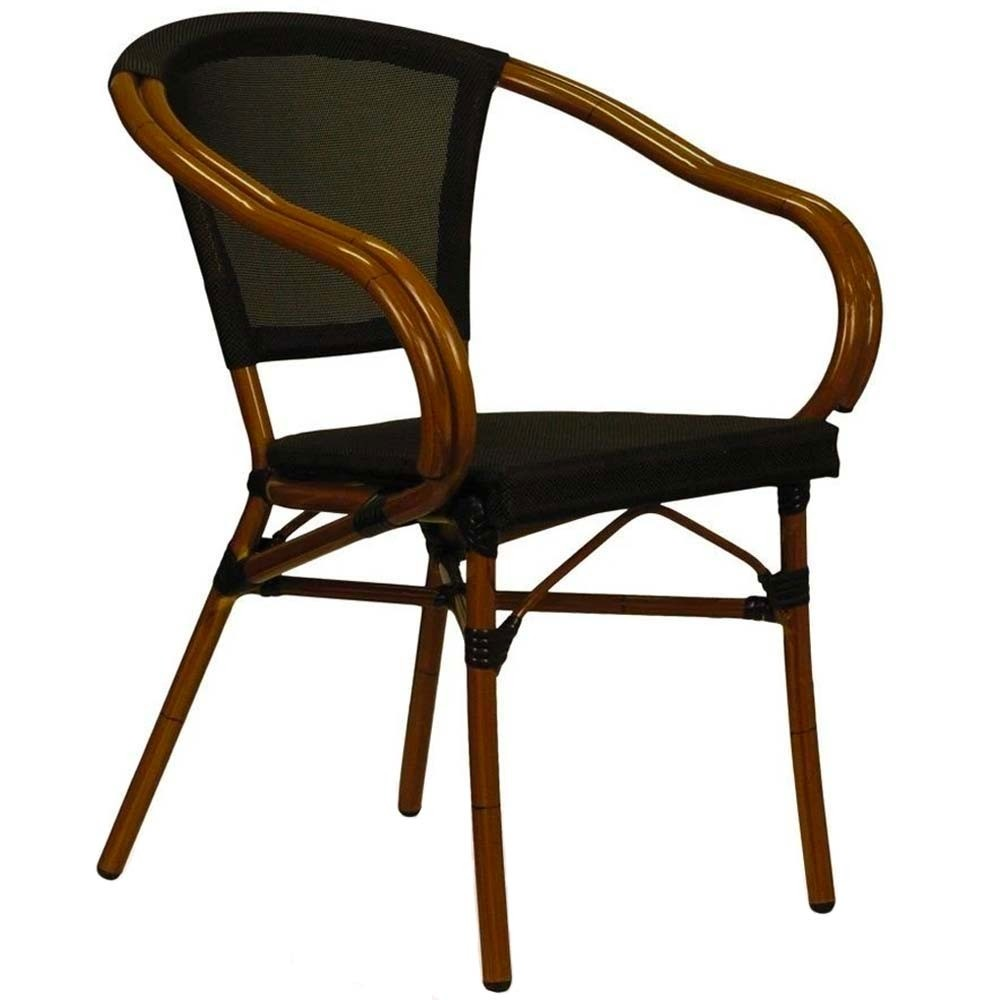 Paris Arm Chair with Fabric Seat