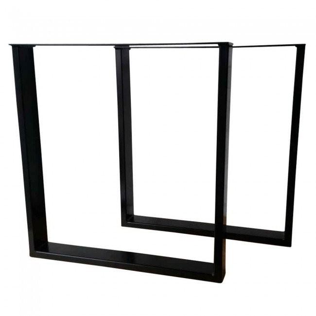 Rectangular Table Legs Steel Set of 2