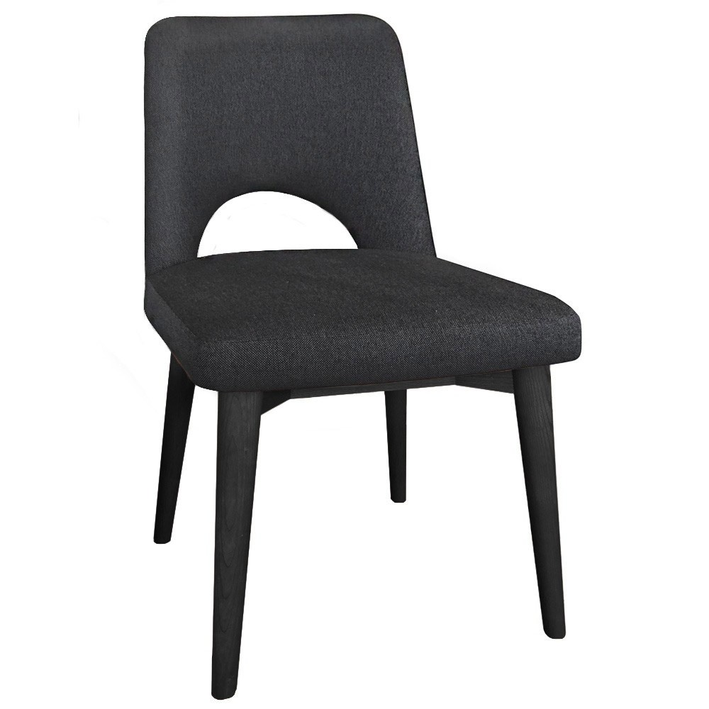 Scandi Side Chair Black Wood Legs