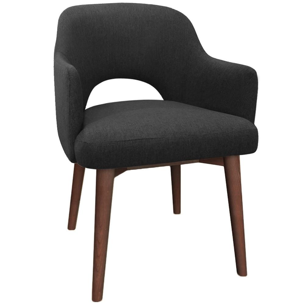 Scandi Tub Chair Walnut Timber Legs