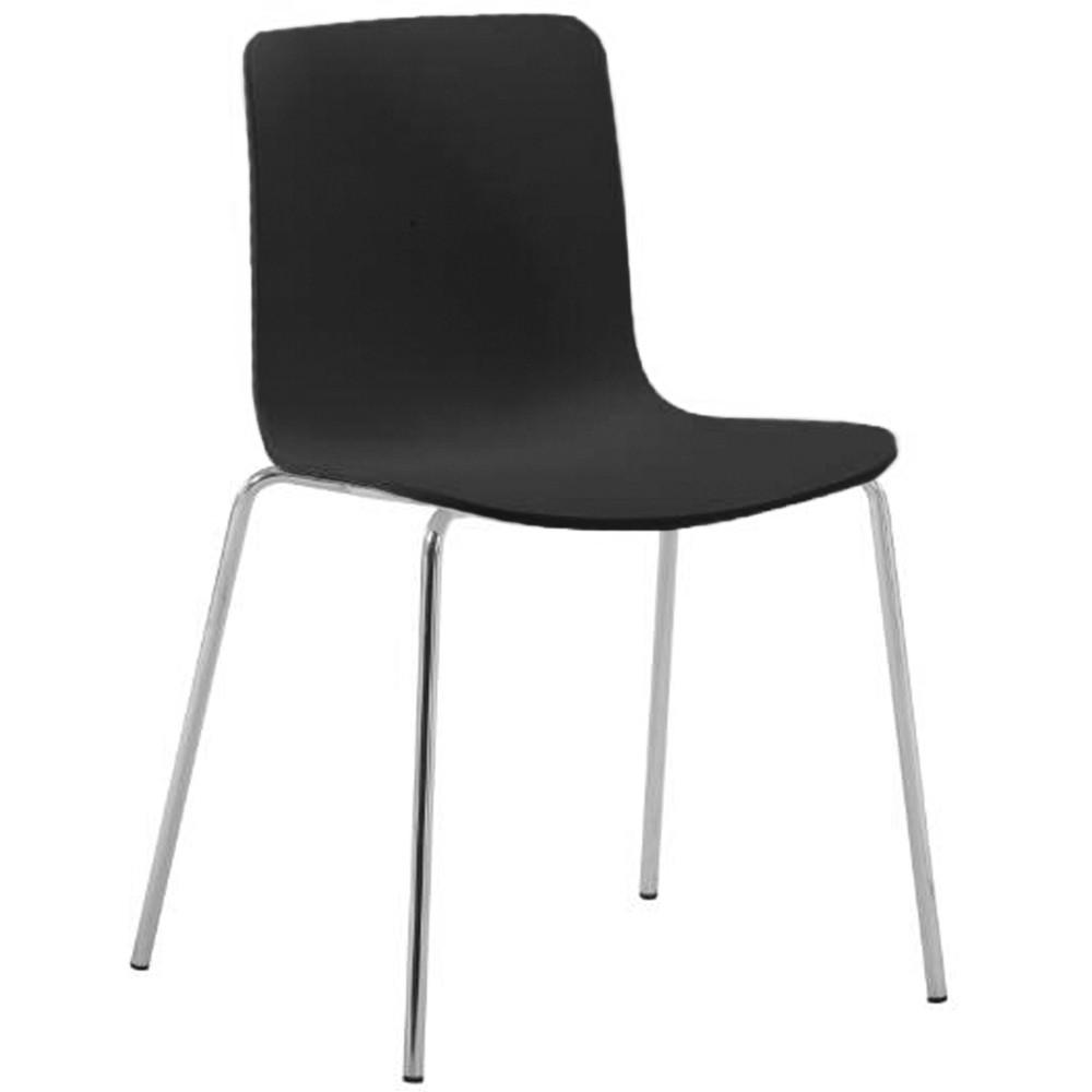 Skylar Poly Chair Chrome Legs