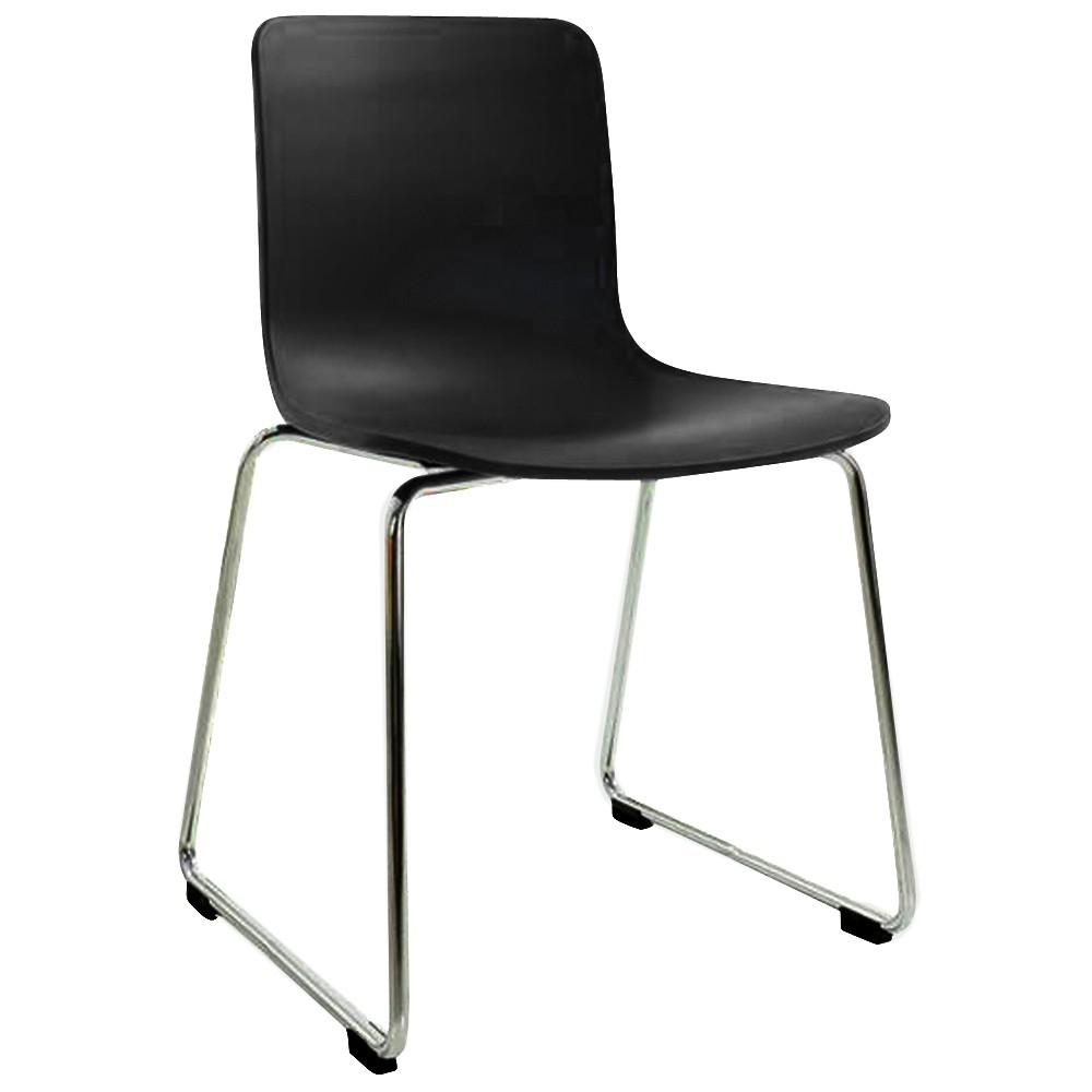 Skylar Poly Chair Chrome Sled Legs