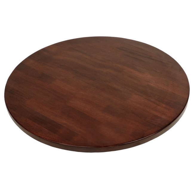 Solid Wood Round Table Top Walnut