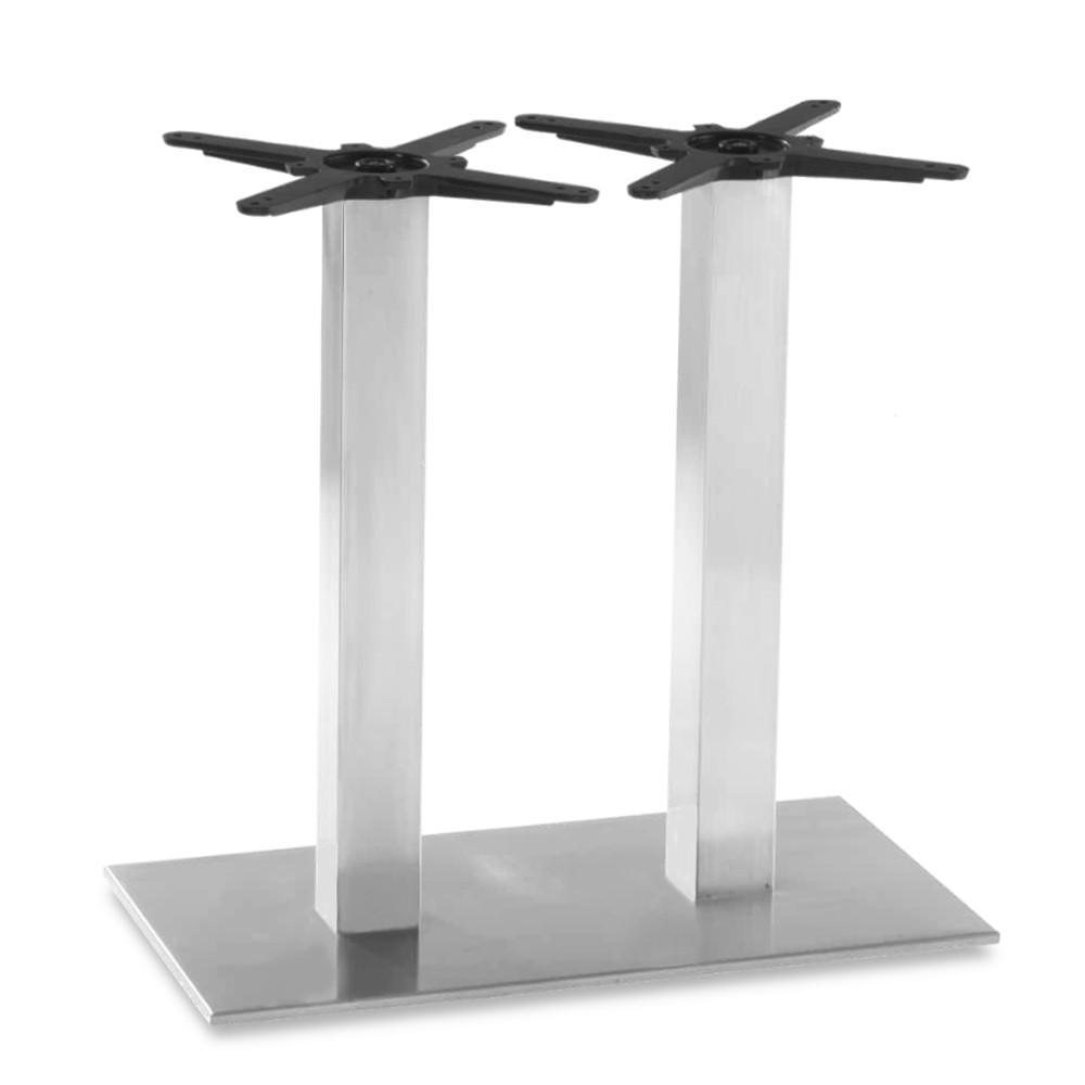 Ingela Twin Stainless Steel Table Base