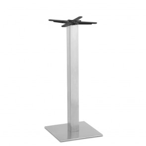 Jaquelina Square Bar Table Base Stainless Steel
