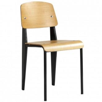 Jean Prouvé Standard Chair Replica Oak Seat