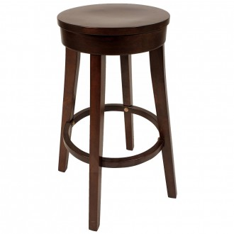 Lucia Minimal Wooden Bar Stool Timber 75cm