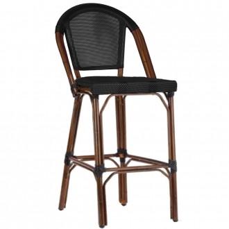 Paris Bar Stool with Fabric Seat