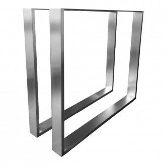 Rectangular Table Legs Stainless Steel Set of 2