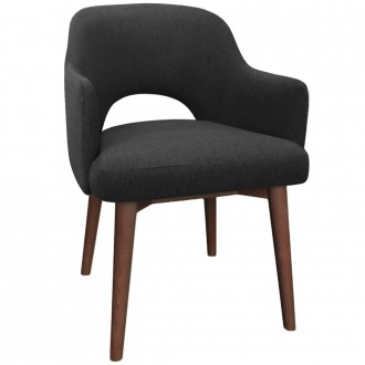Scandi Tub Chair Walnut Timber Legs