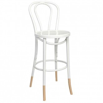 Genuine No 18 Bentwood Bar Stool with Natural Socks