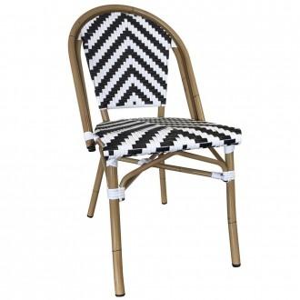 Paris Chevron Wicker Outdoor Chair