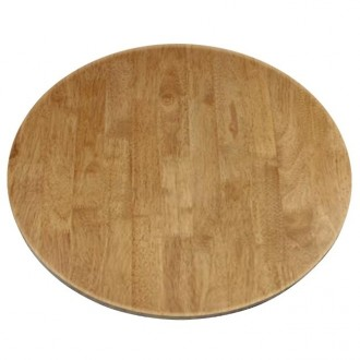 Round Solid Wood Table Top Oak Finish