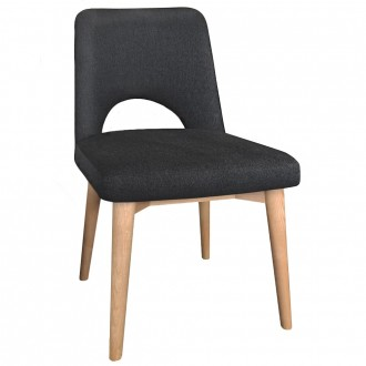 Scandi Side Chair Natural Wood Legs
