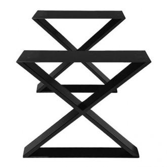 Steel Cross Base Table Legs Set of 2