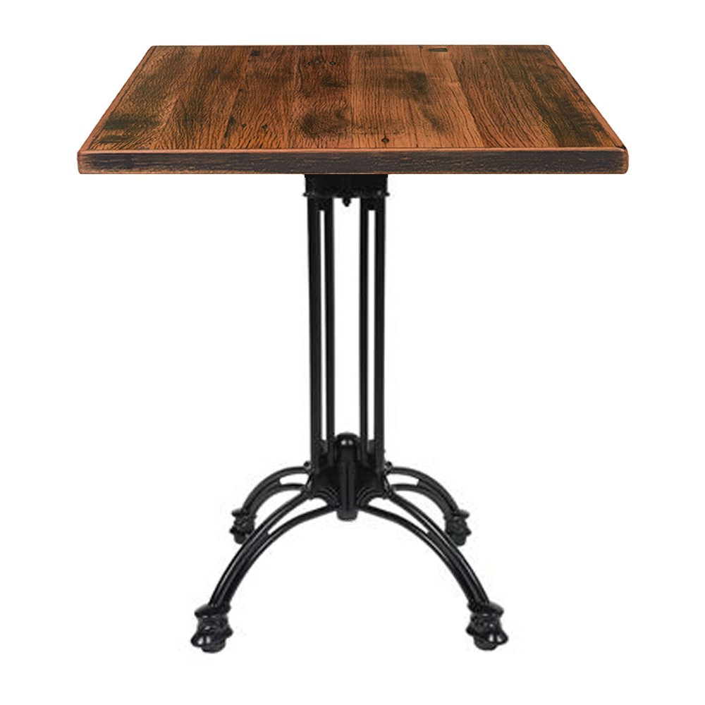 Angel Reclaimed Timber Industrial Cafe Table   Apex
