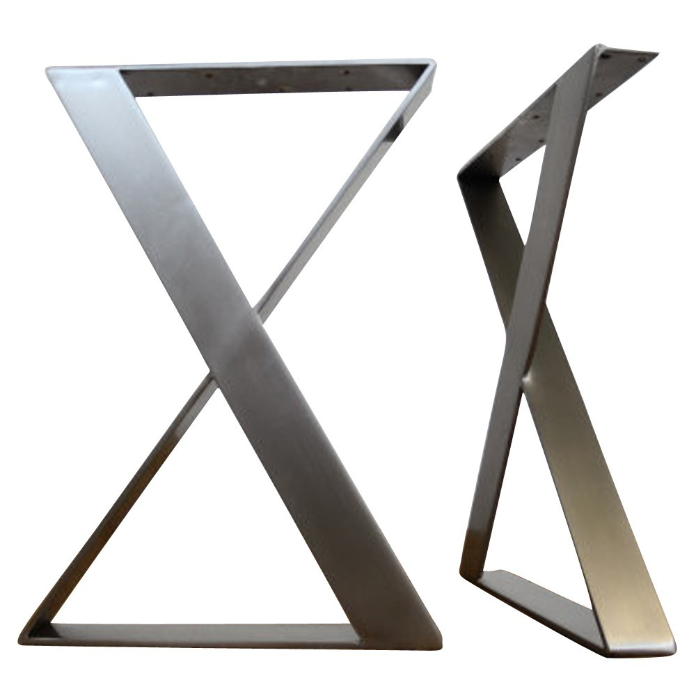Stainless Steel X Shaped Table Legs