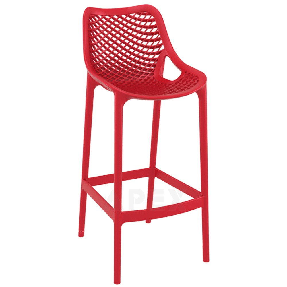 Kandra Plastic Outdoor Bar Stool Commercial Quality Apex