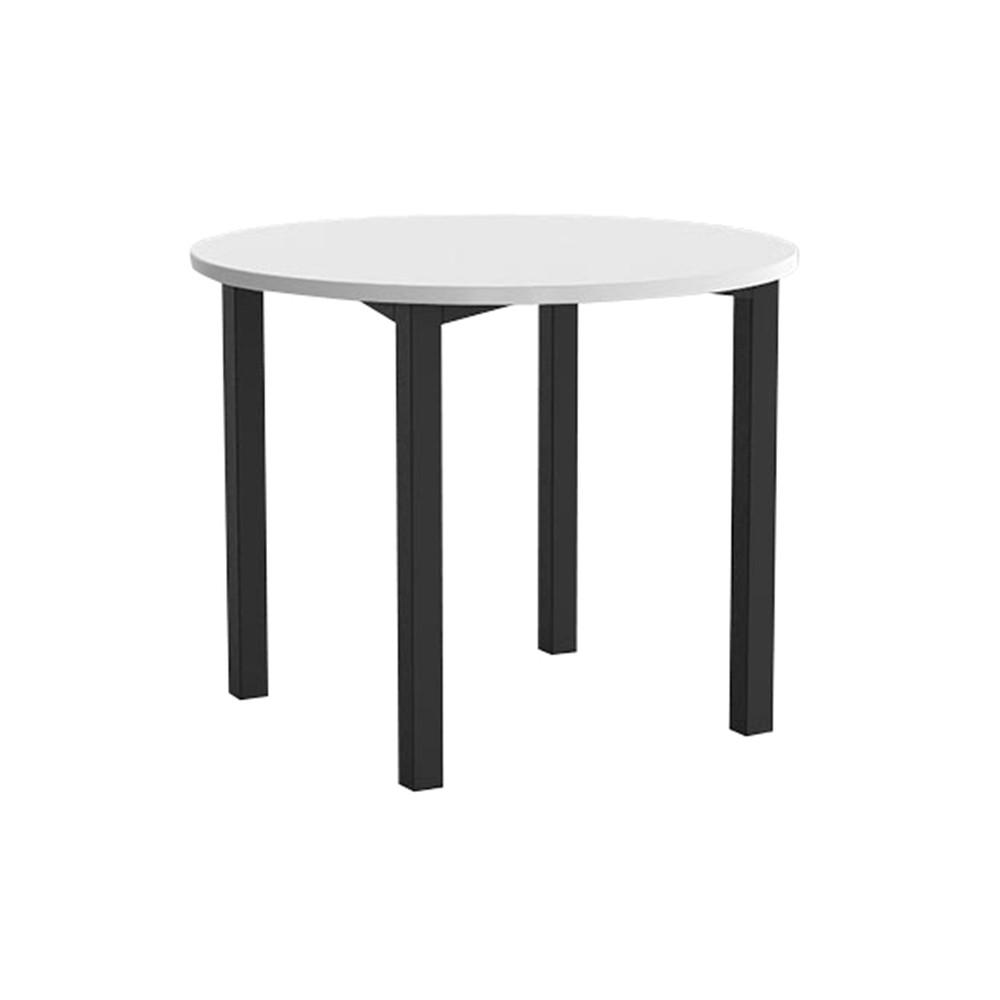 enterprise round office meeting table black legs