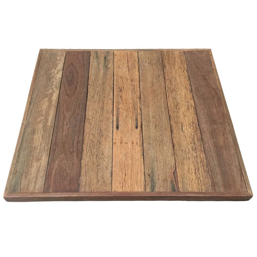 Rustic recycled wood table top table tops table parts for Reusable wood